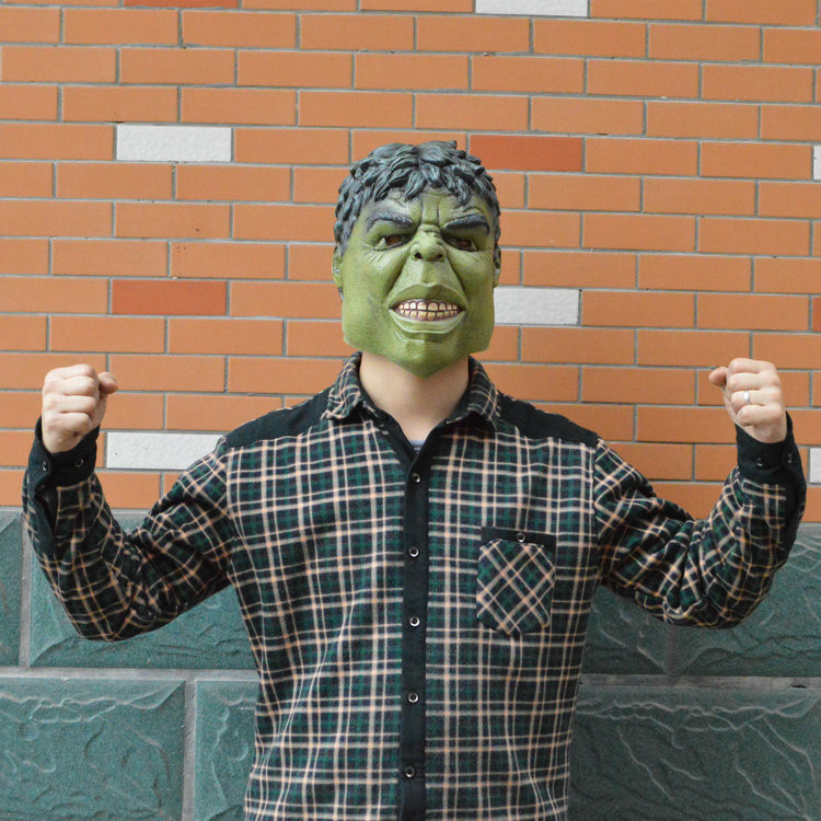 Head rubber latex mask cartoon hulk mask for carnival and party halloween(China (Mainland))