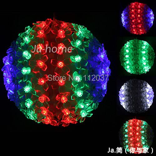 Luminaria 50/100/200 LED Chandelier Luminarias Home Decoration Navidad Lamp 10/15/30CM Petals Round Ball String Lights Lighting - credit200 store