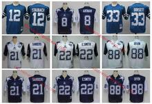 Stitiched,DALLAS ,Troy Aikman,Irvin,Emitt Smith,Deion Sanders,Tony Dorsett,Roger Staubach,throwback for mens camouflage(China (Mainland))