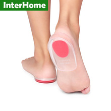 Comfort Heel Pain Insoles Relieve Foot Pain Silicon Gel Heels Cup Cushion Protectors Spur Support Shoe Pad Feet Care Inserts