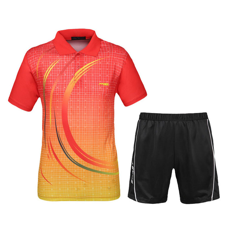 Men Table Tennis Sets 2016 New Sports Series Shirts With Shorts Wicking Game Training Clothing Male Tennis Badminton Suit(China (Mainland))