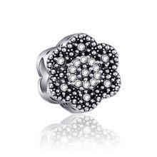 De Lujo cristal Flor Mariposa Luna amor corazón Mickey perla simulada del encanto de Pandora pulseras para las mujeres de la joyería de DIY regalo(China)