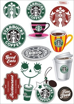 Starbucks Sticker Suitcase Luggage Fridge Notebook Laptop Bicycle Decal TZ0011  -  SUGAR LADY store