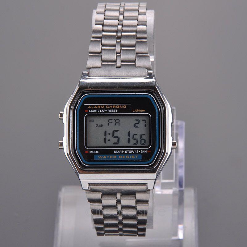 LOCAL SHIP- LED Digital Watch Watches Men Watch Gold,Silver Men Steel Clock Casual Zipper Brand Relogio Masculino LS*USMHM102(China (Mainland))