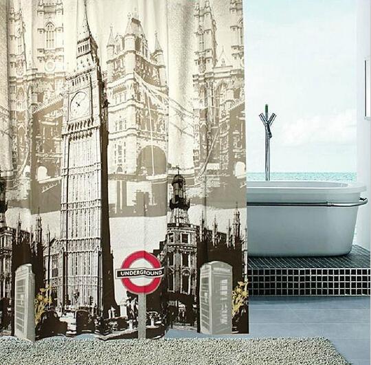 Cortinas De Baño Londres:cm productos de baño tela baño cortina de baño de moda de londres