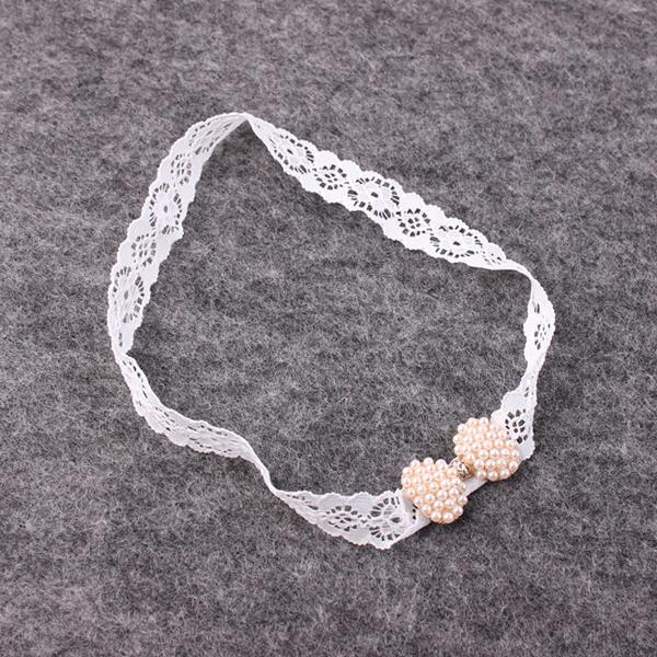 1 PC Charm Baby Toddler Newborn Infant Lace Pearl Mini Bowknot Headband Dainty Diamond Hairband Hair Band Accessories(China (Mainland))