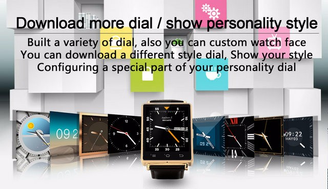 Smart Watch NO.1 D6 MTK6580 Quad Core 1.63 inch 1GB RAM 8GB ROM Android 5.1 3G Health Monitor GPS WIFI For Iphone and Android
