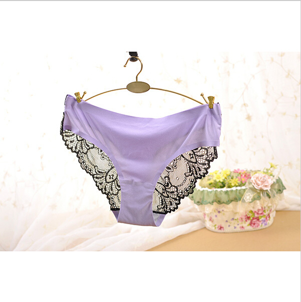 710 Hot Fashion Women Underwear Sexy Fabric Ultra thin Victoria Comfort Women Panties 8 Color Vintage