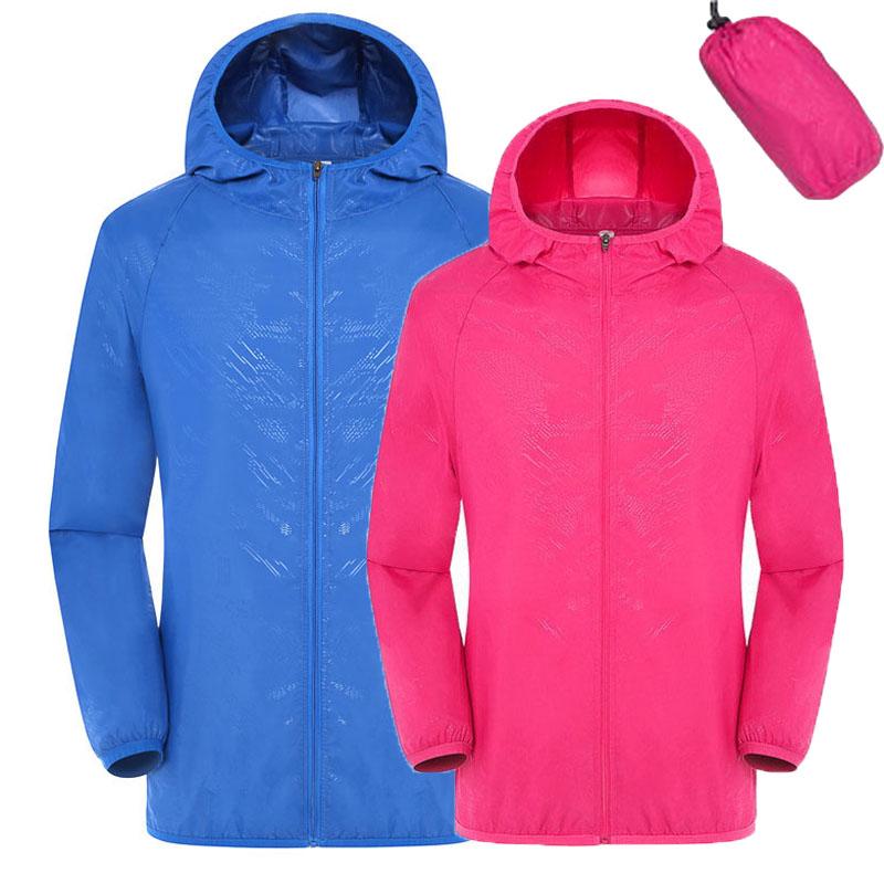 Men Women Quick Dry Hiking Jacket Waterproof Sun & UV Protection Coats Outdoor Sport Skin Jackets XXXL 2016 Thin Jackets RW078(China (Mainland))