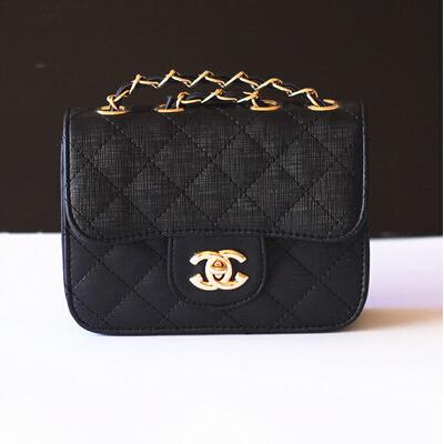 2016 New Fashion Girl Lattice Lock Bags Cute Kids Mini PU Leather Messenger Bags Kids Children Party Handbags Shoulder Chain Bag(China (Mainland))