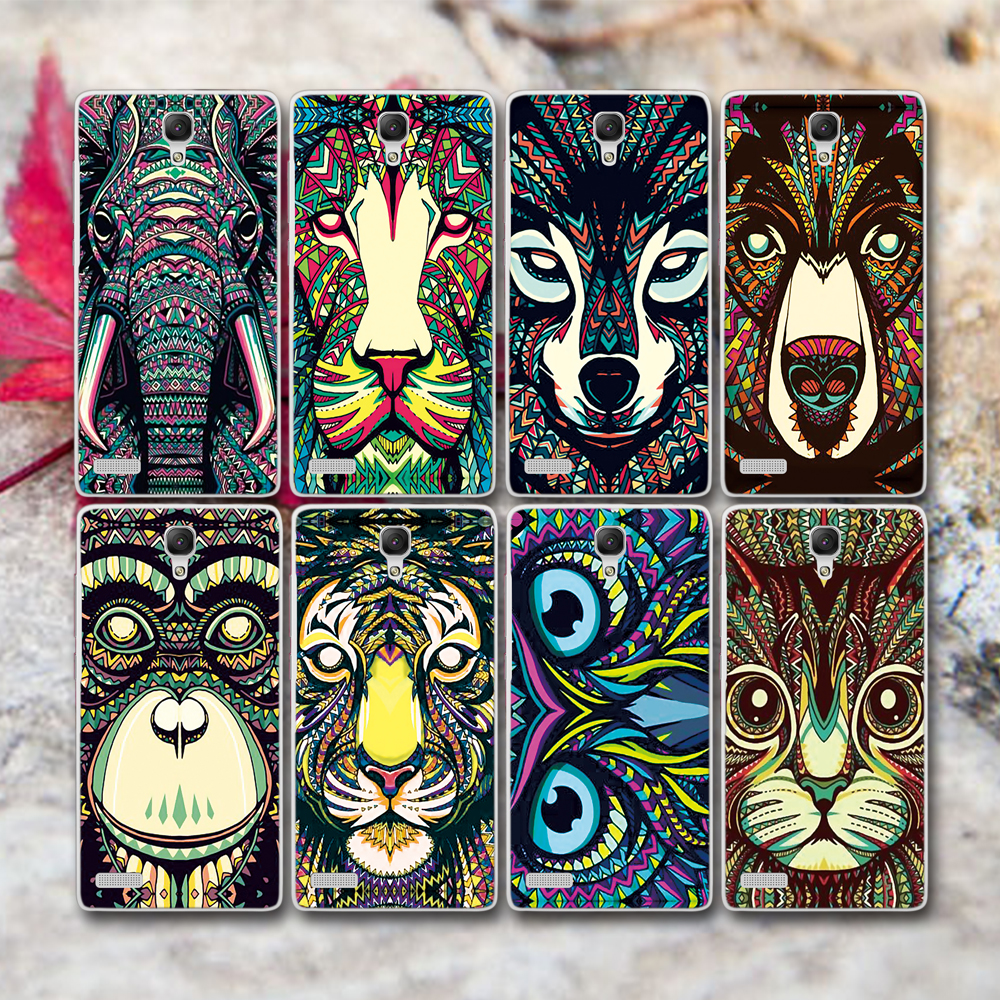 Hot Selling Colored Drawing Animal Head Hard Case Cover For MEIZU MX4 MX5 Free Shipping(China (Mainland))