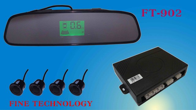 brand new ultrasonic waterproof shockproof car reverse auto detect sensor rear view mirror color LCD display parking sensor