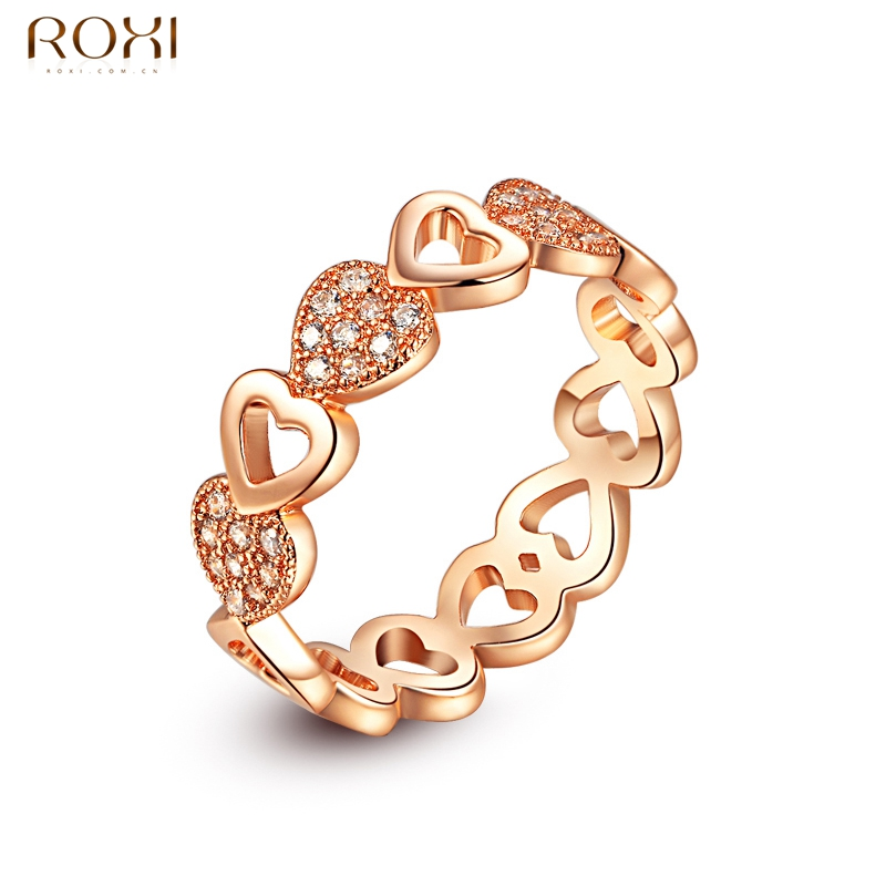 ROXI Rings for Women Gold Color Classic Simple Design Ring Heart