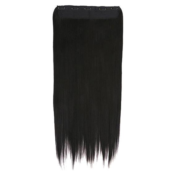 Гаджет  60cm Fashion Girl Lady Long Straight Fibre Clip On Hair Extension Black None Волосы и аксессуары