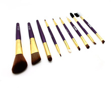 Free Shipping Professional 9 pcs Makeup Brush Set Tools Make-up Toiletry Kit Brand Make Up Brush Set Case