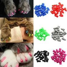 New 20Pcs/Lot Colorful Soft Pet Dog Cats Kitten Paw Claws Control Nail Caps Cover Size XS S M L XL XXL With Adhesive Glue(China (Mainland))