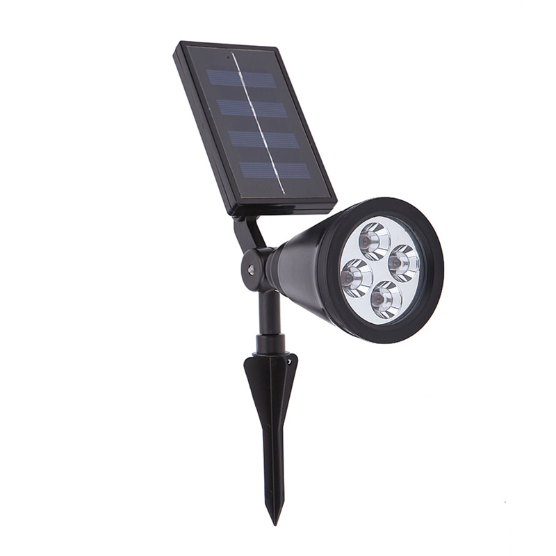 Outdoor In-Ground Spotlight 4LED Solar Energy Power Garden Lawn Light Lamp Free Shipping(China (Mainland))