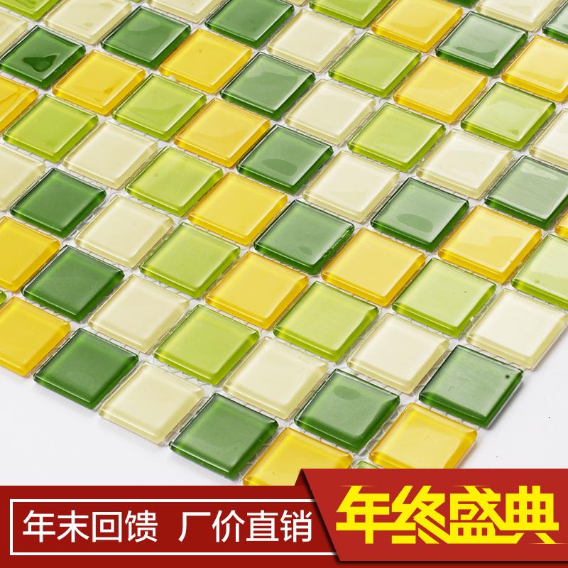 Bathroom mosaic mirror glass mosaic tile mosaic puzzle
