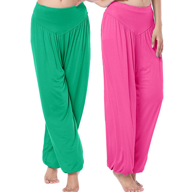 1pc/lot Women Lady Harem Pants Belly Dance Club Comfy Long Boho Wide Trousers  multicolor free size  AY651417