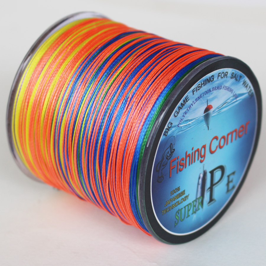 Braided fishing line 500m multi color super strong japan for Colored fishing line