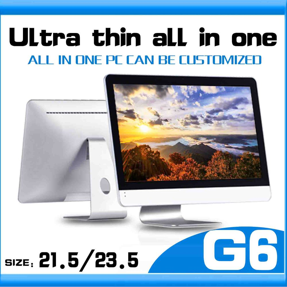 linux desktop pc G6 Celeron dual core G1820 computer table all-in-one lcd pc 12v pcdesktop pc 4gb ram 500gb HDD all-in-one pc(China (Mainland))