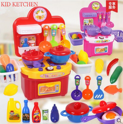 22pcs/set Child Kitchen Toys Set Classic Toys Cooking Tools Kids Pretend Play simulation Baby Girls Educational Role playing toy(China (Mainland))