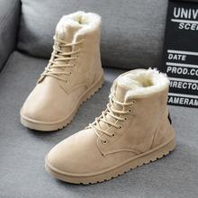 Botas de invierno 2016 de la moda de invierno mujer botas zapatos planos con cordones de botas de tobillo de mujer botas de nieve advierta fur casual zapatos ALF216(China (Mainland))