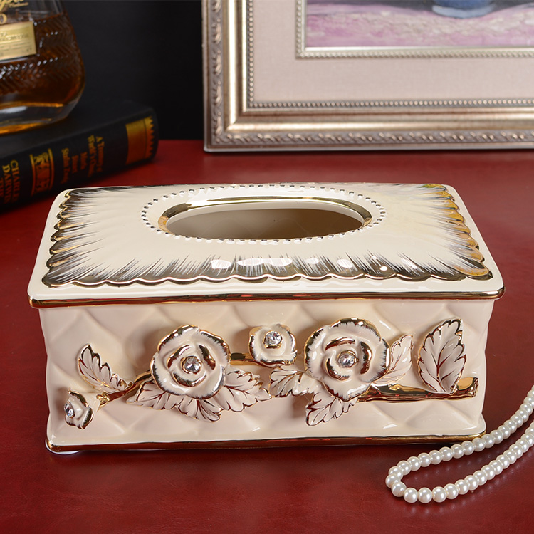 Handicraft home decoration ivory ceramic fashion luxury for Application box decoration
