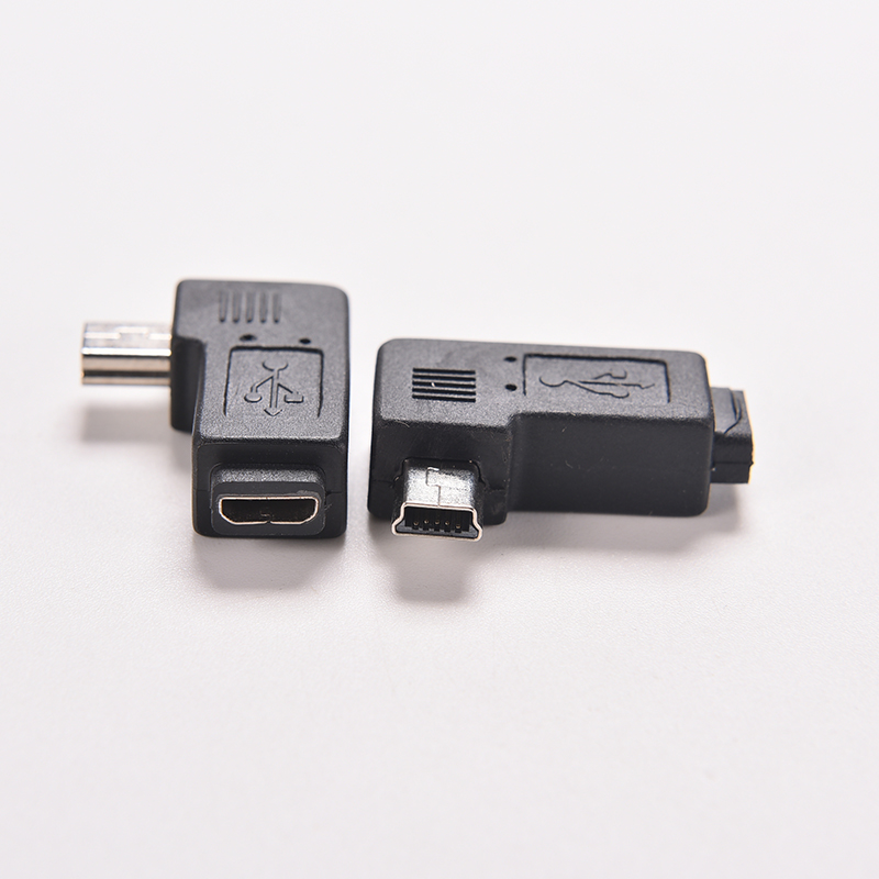 1PC 4 Type Straight / L Shape Black Micro / Mini USB Female to Mini / Micro USB Male Adapter Charger Connector Converter Adaptor(China (Mainland))