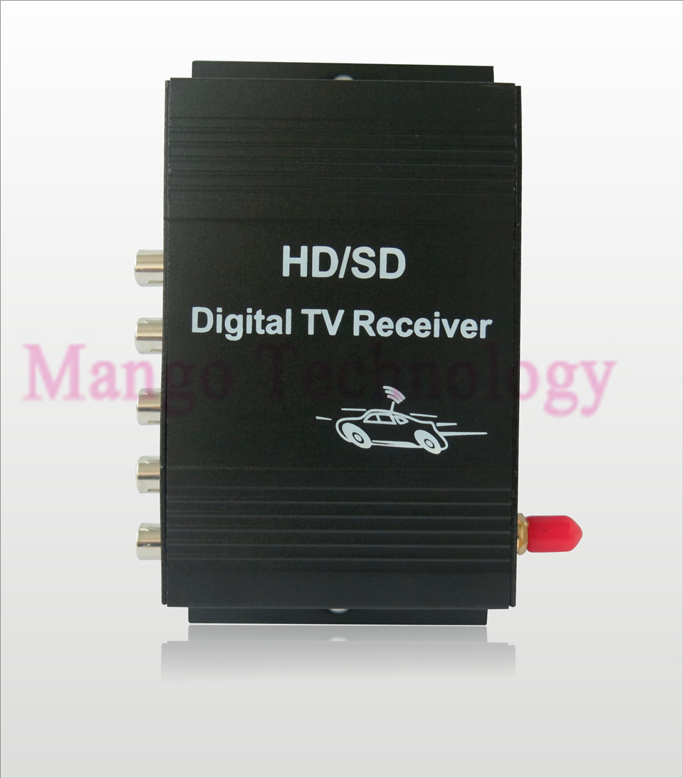 2016 New ISDB-T Car TV Tuner 4 video output Car Digital TV receiver 190km/h For Brazil chile Argentina Peru South America Japan