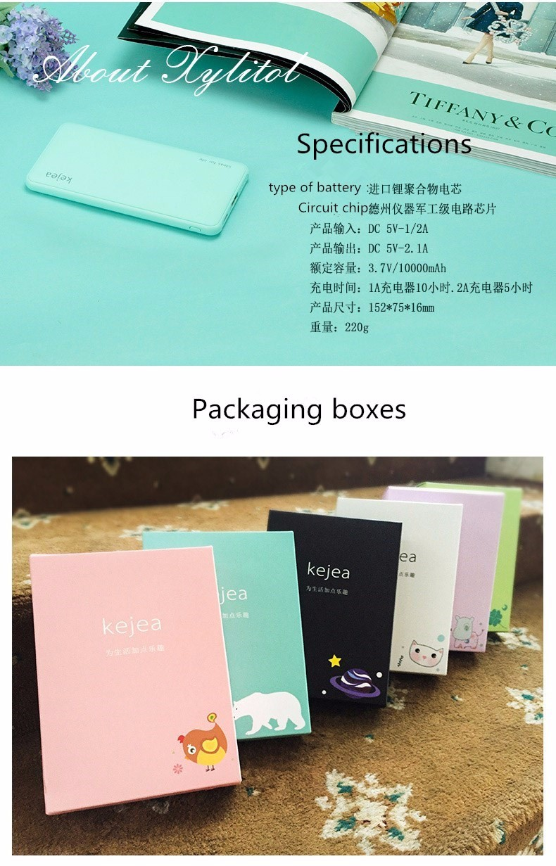 IREPIE Fashion Cute Color Portable10000mah Power Bank 10000 mAh External Battery Pack Moblile Charger for iphone samsung xiaomi