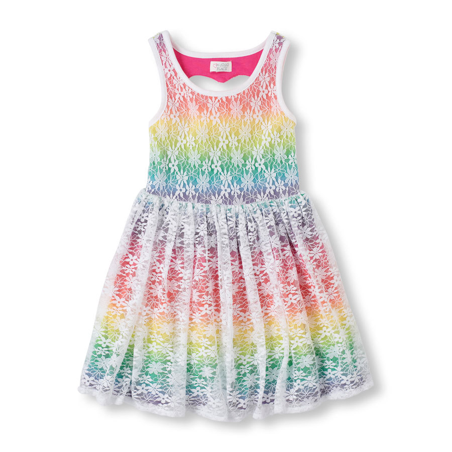 2016 new clothing rainbow lining summer gauze dress