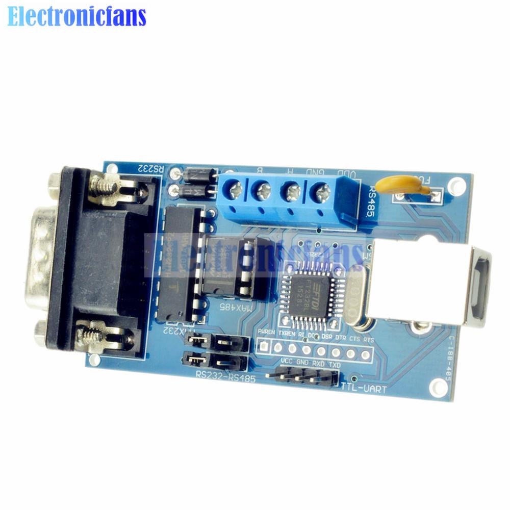 Standard USB Serial RS232 TTL UART RS485 Converter Adapter FTDI FT232BM/BL Controller Module Arduino Support Win7/XP/OS