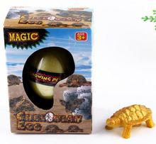 Gift Box Hatching Inflatable Animals Growing  Pet Dinosaur  Turtle  Lizard Swelling Eggs Toys(China (Mainland))