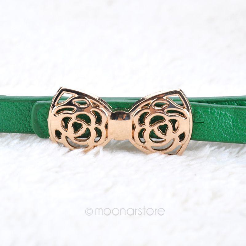 Fashion Thin Narrow Waist Belt Women's Lady PU Leather Belt Waistband Strap PMHM089*55(China (Mainland))