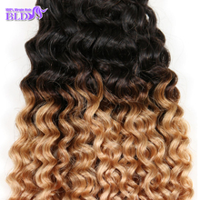 Top Selling #1b/27 Good Hair Peruvian Ombre Curly Hair Extensions Two Tone Ombre Weave 3pcs Peruvian Wet and Wavy Cheap Hair(China (Mainland))