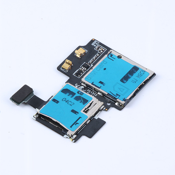 New arrival Hot Sell SD Sim Card Slot Holder Flex Cable For Samsung Galaxy S4 i9500 I9505 & Drop shipping(China (Mainland))