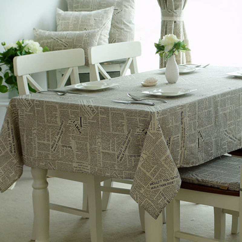 2016 HOT cover European style English words Table Cloth cotton Hotel Tablecloth decor. Horse Desk Table Cover Toalha De Mesa(China (Mainland))