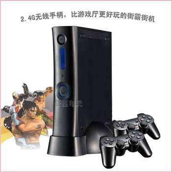 Free Shipping,New 100 games built-in Arcade console, Game box,Support 2.4G wireless joystick/SD card/4Player video game console