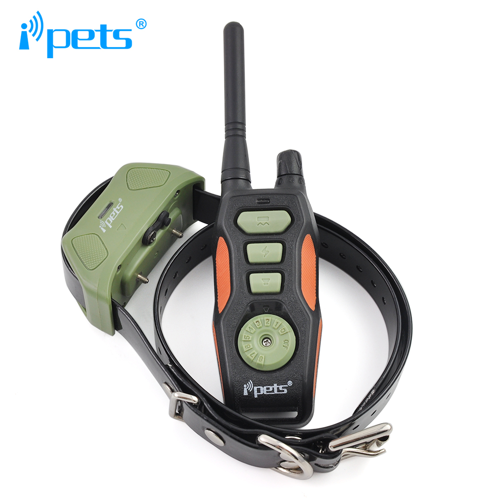 Ipets 618-1 800m remote rechargeable and waterproof for dogs training collar(China (Mainland))