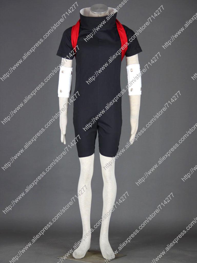 Custom cheap Sasuke Cosplay Costume from Naruto Shippuuden Anime clothing Christmas(China (Mainland))