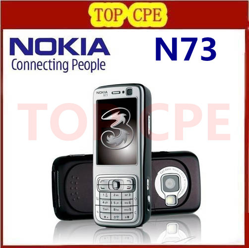 Refurbished N73 Original Nokia N73 GSM 3G Bluetooth 3.15MP FM MP3 Unlocked Mobile Phone Free Shipping One In Stock!!!(China (Mainland))