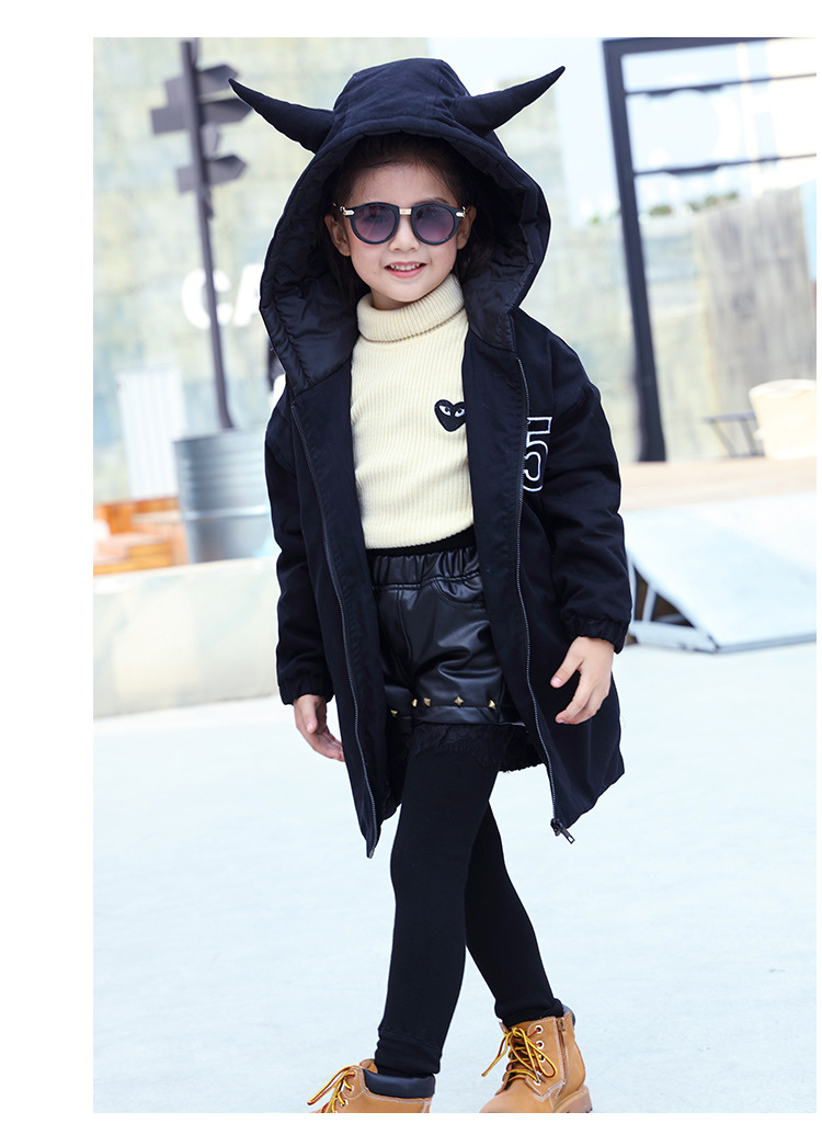 Скидки на 2016 новые девушки зимой дети пальто девушки долго клип хлопок ветровка пальто бесплатная доставка