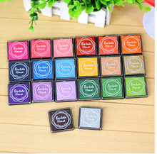 20pcs/lot 20 Colors DIY Scrapbooking deco inkpad Vintage Crafts Ink pad Colorful Sealing Decoration Funny work(China (Mainland))