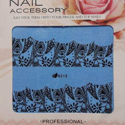 28 Designs Nail Wraps Water Transfer Decal Black Lace Nail Art 100 sheets/lot Free Shipping