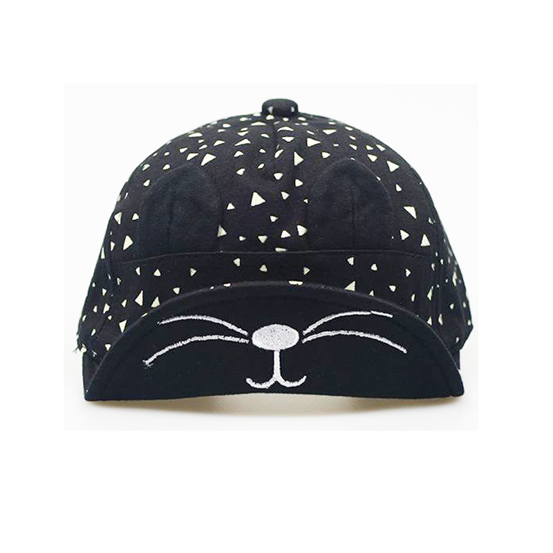 children summer cat hat 2016 spring 1-3 year old baby boy girls baseball caps cute kitty ears cotton soft adjustable - Day Up Outdoor International store