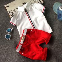 Sole Capretto Ragazzi Che Coprono Gli Insiemi (Shirt + Shorts) 2016 Capretti di Estate Vestiti per I Ragazzi Del Bambino di Modo Dei Ragazzi del Vestito(China (Mainland))