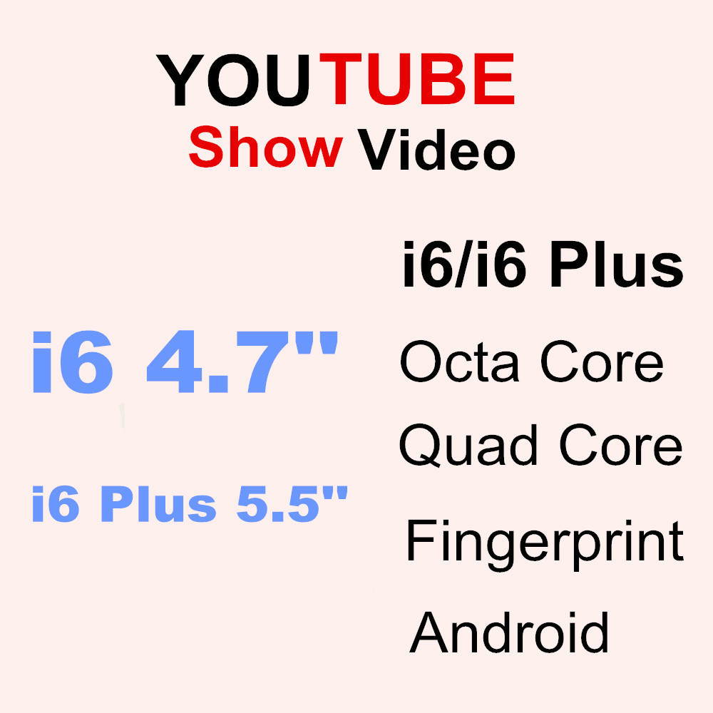Goophone I6 MTK6572 Dual Core Phone 6 Android Smartphone Mobile Phone I6 Plus 5.5 Inch MTK6592 Octa Core Fingerprint Cell Phones(China (Mainland))