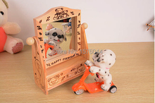 A1055 Fashion vintage Retro wooden dressing mirror makeup cosmetic mirror with mini drawer 15X15X8.5CM free shipping(China (Mainland))