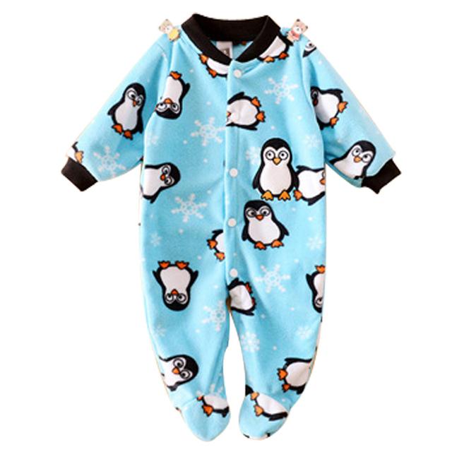 Марка Детская Одежда Пижамы Новорожденных Baby Rompers Животных Младенческой Руно С Длинным Рукавом Комбинезоны Мальчики Девочки Весна Осень Одежда Одежда